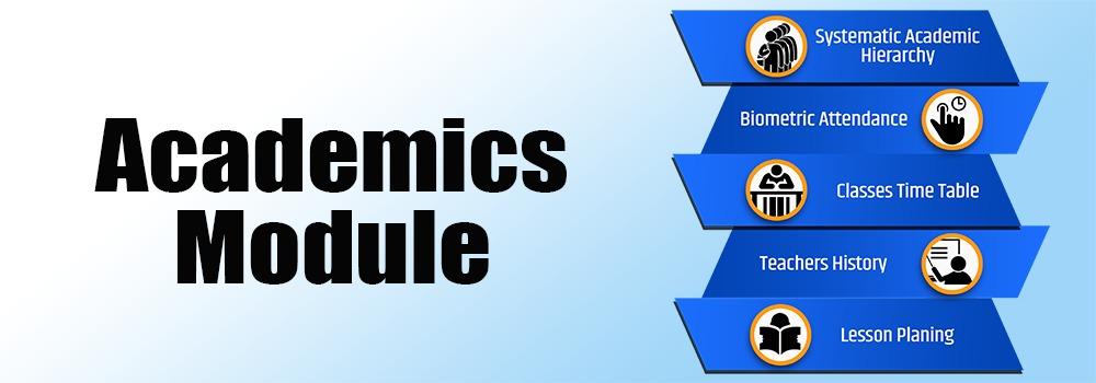 Academics Module of SKOLite School ERP  of saas service
